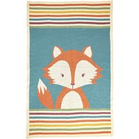 Fox Knitted Throw Multi