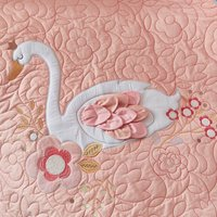 Swan Princess Blush Coverlet Blush (Pink)