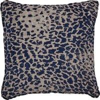 5A Fifth Avenue Navy Leopard Chenille Jacquard Cushion Navy (Blue)