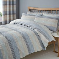 Elements Mason Grey Jacquard Duvet Cover and Pillowcase Set Grey