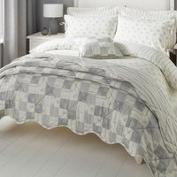 Mia Grey Bedspread Grey