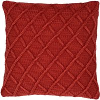 Washed Knit Orange Cushion Orange