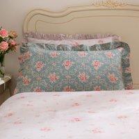 Vintage Floral Pillow Sham Blue/Pink