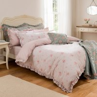 Rosie Pink Reversible Duvet Cover Set Pink
