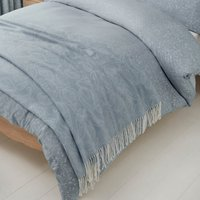 Marsella Blue Jacquard Cotton Throw Blue