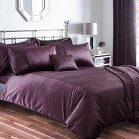 Serena Plum Duvet Cover Set Plum (Purple)