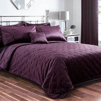 Serena Plum Bedspread Plum (Purple)