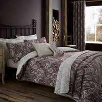 Willow Plum Reversible Duvet Cover and Pillowcase Set Purple
