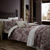 Willow Plum Reversible Duvet Cover and Pillowcase Set Purple