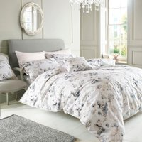 Holly Willoughby Jemima 100% Cotton Reversible Duvet Cover Green