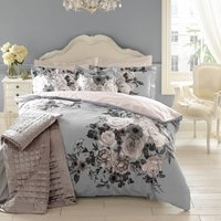 Holly Willoughby Joslyn 100% Cotton Reversible Duvet Cover Blue