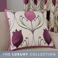 Lalique Plum Cushion Plum Purple