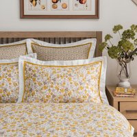 Dorma Hidcote Oxford Pillowcase Pair White/Yellow/Grey