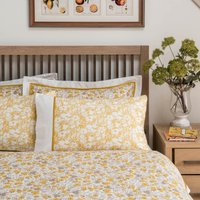 Dorma Hidcote Cuffed Pillowcase Pair Yellow/White