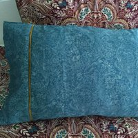 Dorma Merton Moresque Cuffed Pillowcase Pair Blue