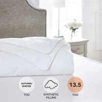 Dorma Satin Touch 13.5 Tog Duvet White