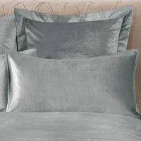 Dorma Camberly Pewter Housewife Pillowcase Pair Pewter (Grey)