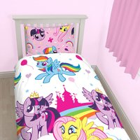 My Little Pony Single Duvet Cover and Pillowcase Set Multi Coloured