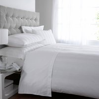 5A Fifth Avenue Egyptian Cotton 300 Thread Count Stripe White Duvet Cover White
