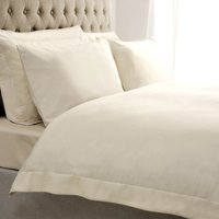 5A Fifth Avenue Egyptian Cotton 300 Thread Count Cream Oxford Duvet Cover Cream