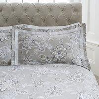 Dorma Samira Grey Oxford Pillowcase Pair Grey