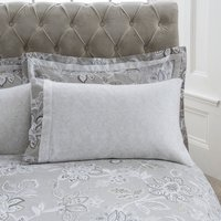 Dorma Samira Grey Cuffed Pillowcase Pair Grey