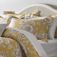 Dorma Alcea Oxford Pillowcase Pair Ochre (Yellow)