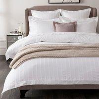 5A Fifth Avenue Herringbone 300 Thread Count 100% Cotton White Duvet Cover White