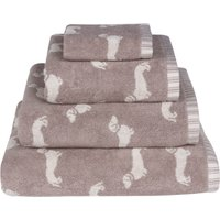 Emily Bond Natural Dachshund Cotton Towel Natural