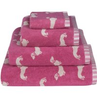 Emily Bond Pink Dachshund Cotton Towel Pink