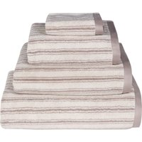Emily Bond Natural Ticking Stripe Cotton Towel Natural