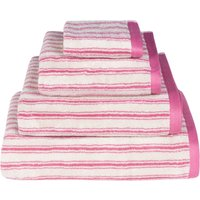 Emily Bond Pink Ticking Stripe Cotton Towel Pink