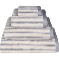 Emily Bond Grey Ticking Stripe Cotton Towel Grey