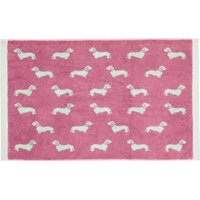 Emily Bond Pink Dachshund Cotton Bath Mat Pink