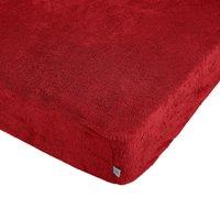 Teddy Bear Kids Red Fitted Sheet and Pillowcase Set Red