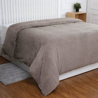 Teddy Bear Taupe Quilt Cover Taupe (Brown)
