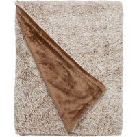 Teddy Bear Marled Mink Throw Mink (Brown)