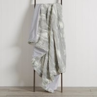 Grey marble faux fur Throw Grey