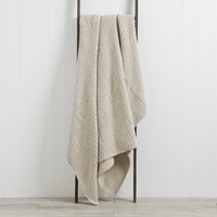 Chunky Moss Knit Off White Throw Off-White