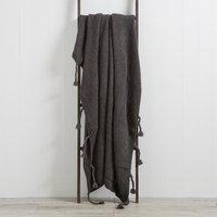 Sparkle Knit Grey Throw Grey