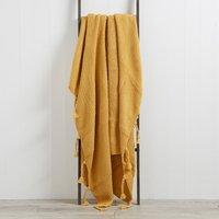 Sparkle Knit Ochre Throw Ochre (Yellow)