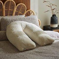 Teddy Bear Cream V-Shaped Pillow Cream