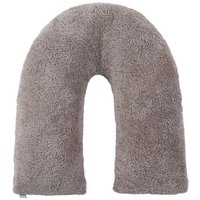 Teddy Bear Taupe V-Shaped Pillow Taupe (Brown)