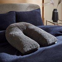 Teddy Bear Charcoal V-Shaped Pillow Charcoal (Grey)