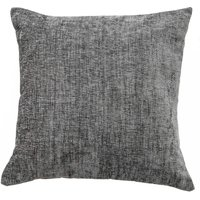 Large Chenille Charcoal Cushion Charcoal