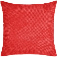 Large Chenille Spot Red Cushion Red