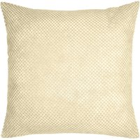 Large Chenille Spot Cream Cushion Cream