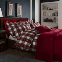 Dorma Brodie Brushed Cotton Duvet Cover and Pillowcase Set Red