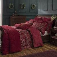 Dorma Marianna 100% Cotton Duvet Cover and Pillowcase Set Red