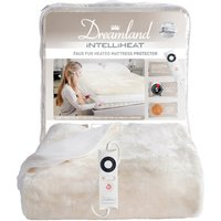 Dreamland Faux Fur Heated Mattress Cover Off-White